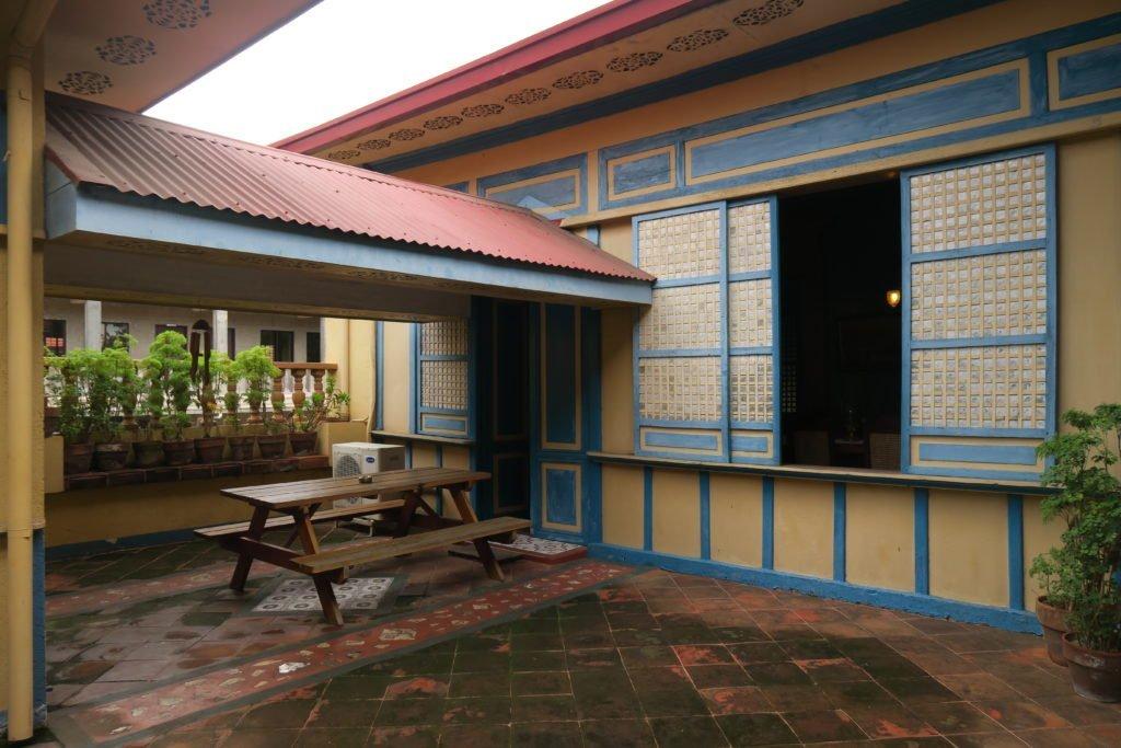 The second floor balcony